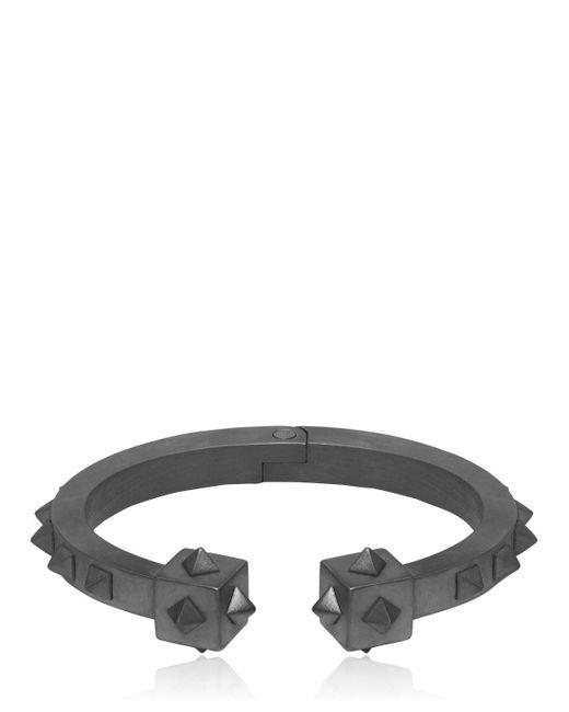 Northskull | Black Oloye Studded Gunmetal Cuff Bracelet for Men | Lyst