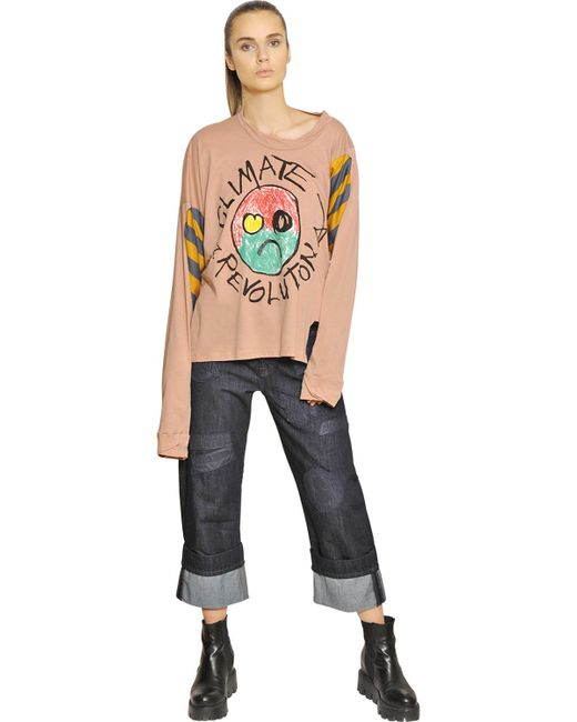 Vivienne westwood anglomania Climate Change Cotton Jersey ...