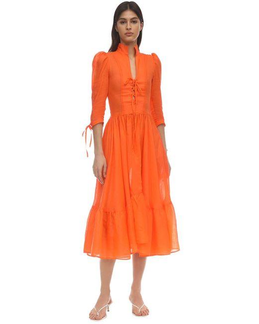 Maryam Nassir Zadeh Milagra ガーゼドレス Orange