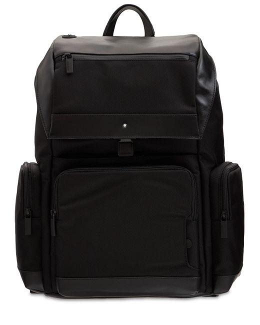 Нейлоновый Рюкзак С Кожаными Деталями Montblanc для него, цвет: Black