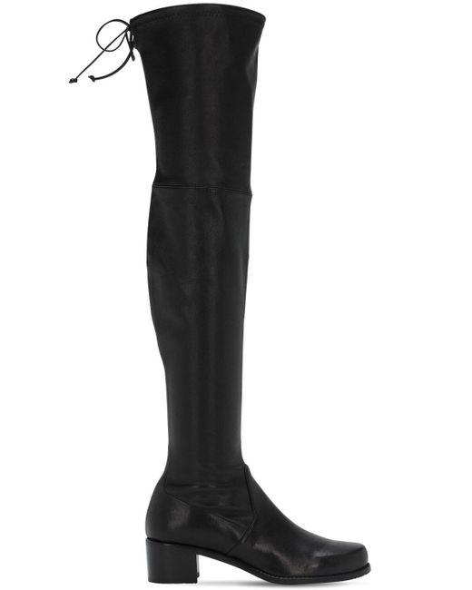 Кожаные Сапоги 40мм Stuart Weitzman, цвет: Black