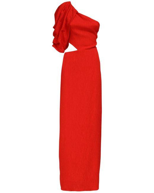 Johanna Ortiz ワンショルダードレス Red