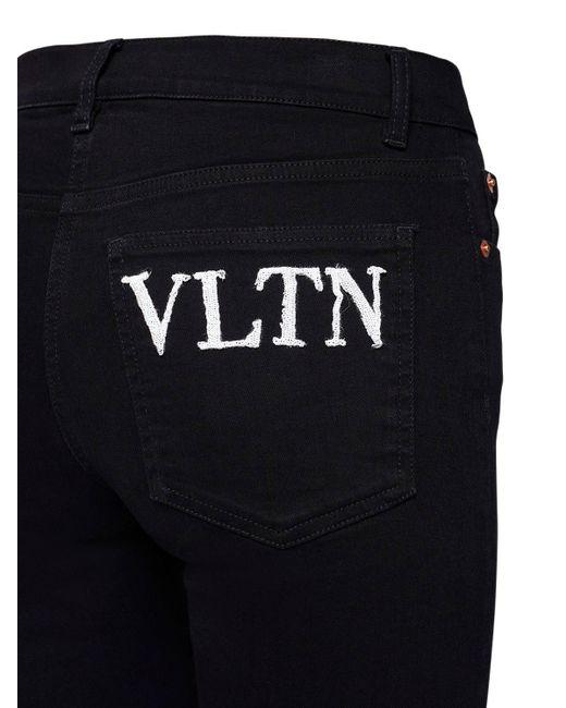 Valentino Vltn コットンデニムジーンズ Black