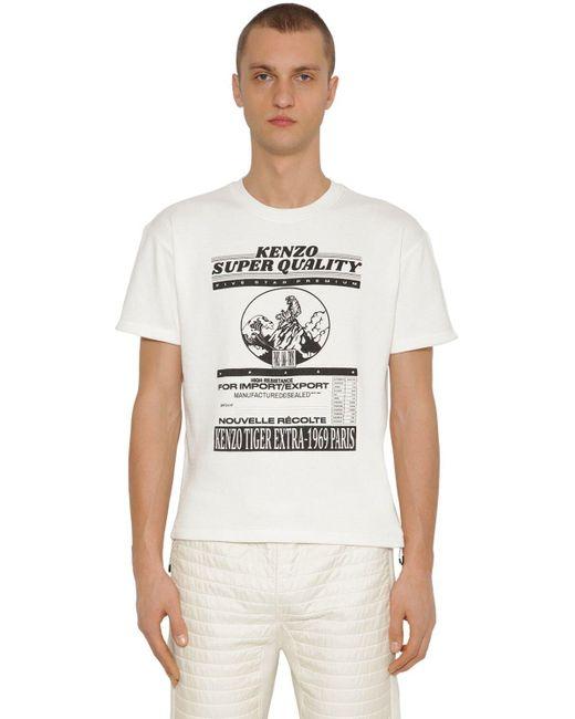 メンズ KENZO Graphic Rice Bag ジャージーtシャツ White