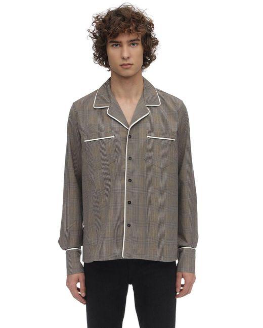 Camisa Esmoquin De Mezcla De Viscosa Rhude de hombre de color Brown