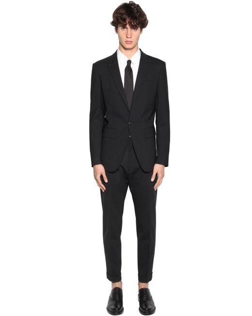 メンズ DSquared² ヴァージンウールブレンドスーツ Black