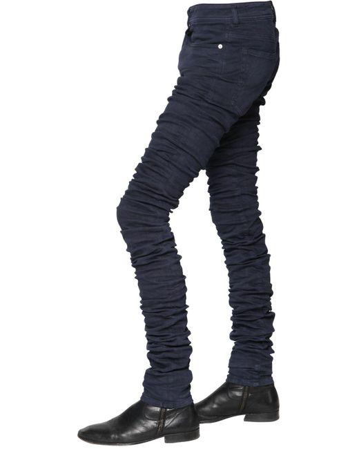 Diesel black gold 16.5cm 3d Extra Long Stretch Denim Jeans in Blue ...