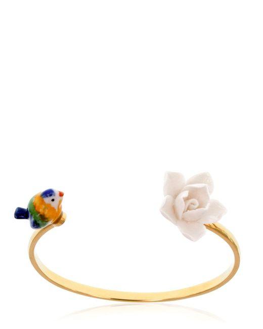 Nach | Multicolor Bird & Flower Bracelet | Lyst