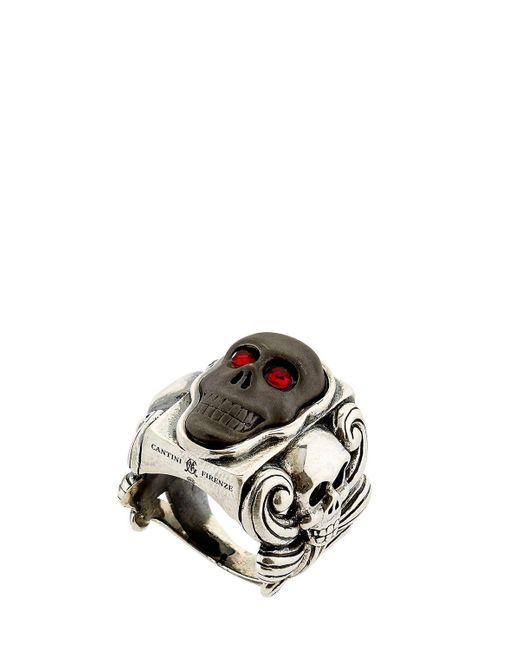 Cantini Mc Firenze | Metallic Liberty Skull Ring for Men | Lyst