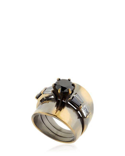 Iosselliani   Metallic Optical Memento Ring   Lyst