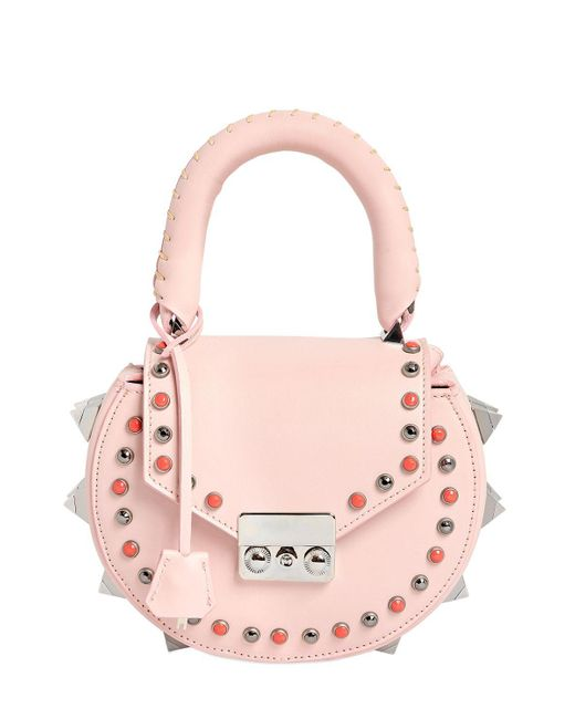 Salar | Pink Mimi Ring Studded Leather Bag | Lyst