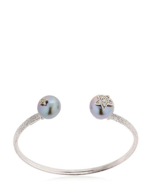 Carolina Bucci   Metallic Pearl White Gold Bangle Bracelet   Lyst