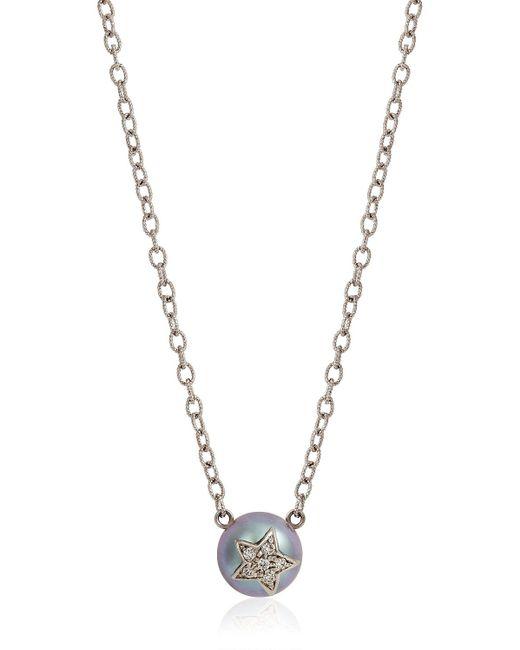 Carolina Bucci   Metallic Fresh Water Pearl & Diamond Necklace   Lyst