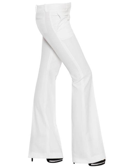 Alexander McQueen | White Flared Grain De Poudre Pants | Lyst
