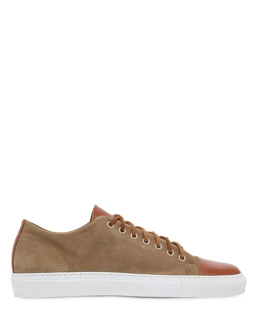 Dino Draghi | Natural Suede & Brushed Leather Sneakers for Men | Lyst