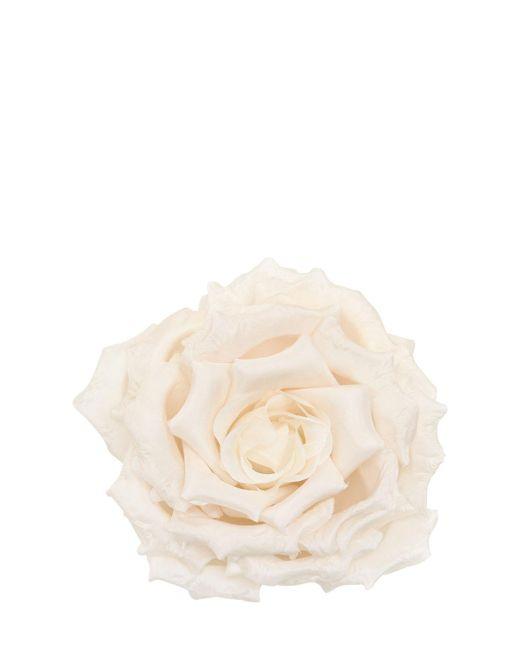 Gucci | White Rose Silk & Cotton Pin | Lyst