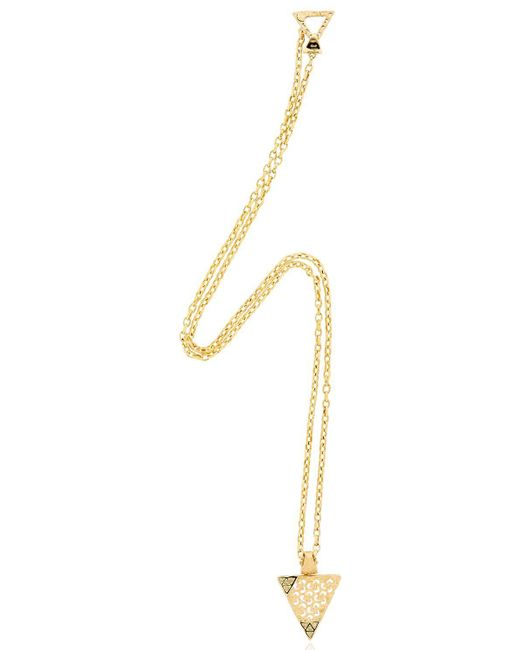MARCO DAL MASO | Metallic Iwi Gold Necklace With Diamonds | Lyst