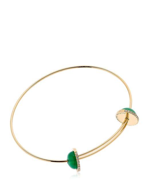 Delfina Delettrez | Metallic Sliding Agate Drops Bracelet | Lyst