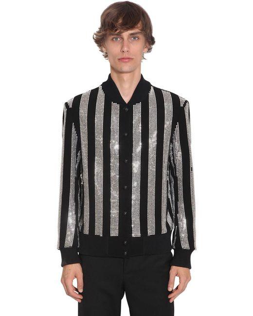 メンズ Balmain クレープボンバージャケット Black