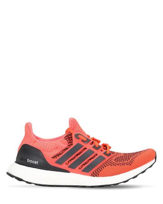 Кроссовки Ultraboost 1.0 Solar Orange Adidas Originals для него, цвет: Red