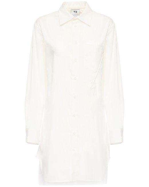 Y-3 Classic コットンブレンドシャツ White