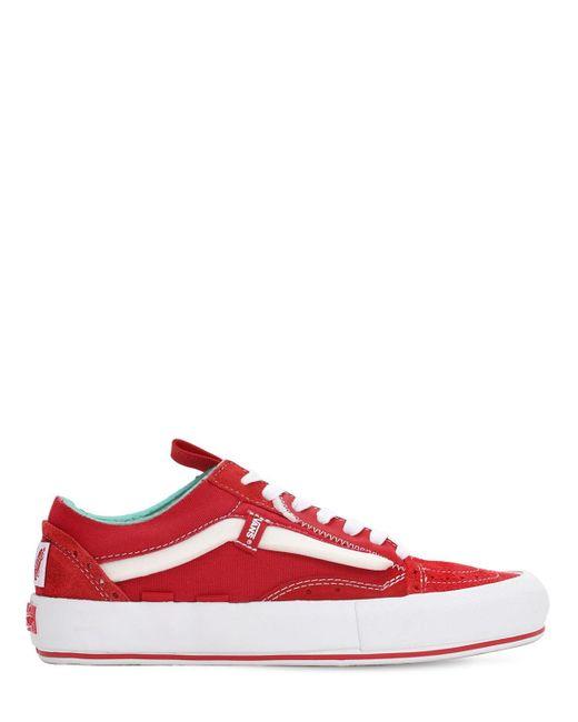 """Кроссовки """"ua Old Skool Cap Lx"""" Vans для него, цвет: Red"""