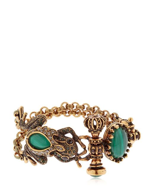 Alcozer & J | Metallic Desire Frog & Crown Bracelet | Lyst