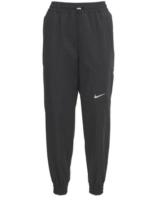 Брюки С Логотипом Swoosh Nike, цвет: Black