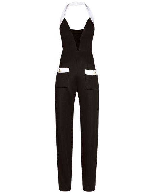 Balmain ビスコースブレンドジャンプスーツ Black