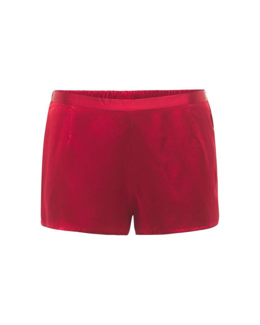 La Perla シルクサテンショートパンツ Red