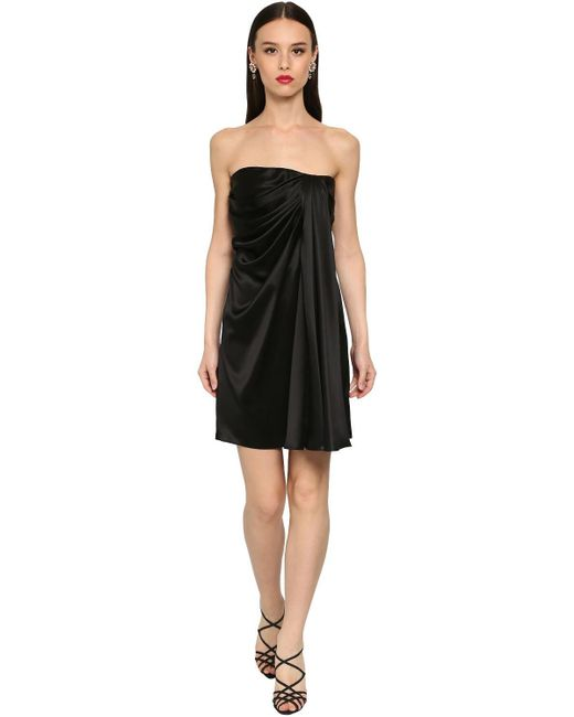 Короткое Платье Из Шелка Dolce & Gabbana, цвет: Black