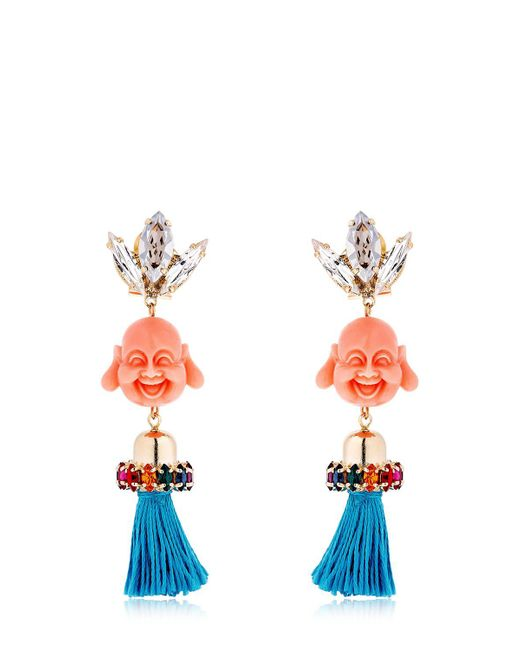 Anton Heunis   Multicolor Pandora's Box Happy Buddha Earrings   Lyst