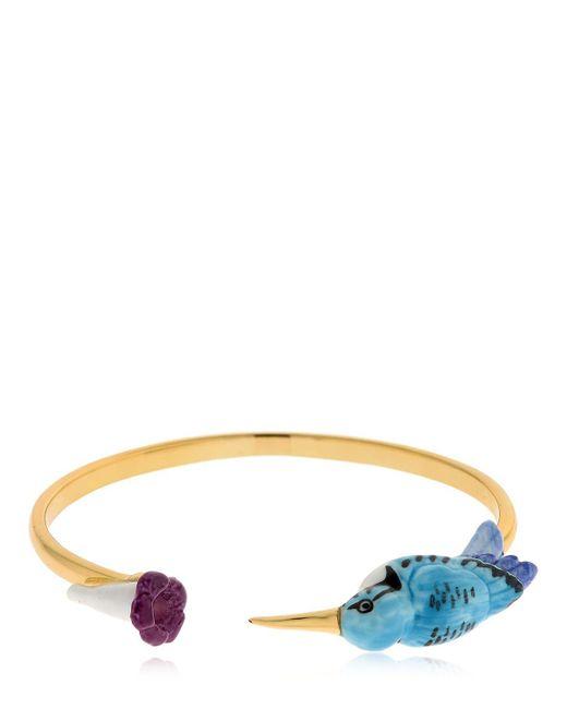 Nach   Multicolor Hamming Bird & Flower Bracelet   Lyst