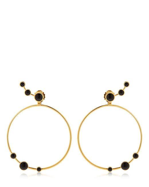 Eshvi   Metallic Lava Onyx Circle Earrings   Lyst