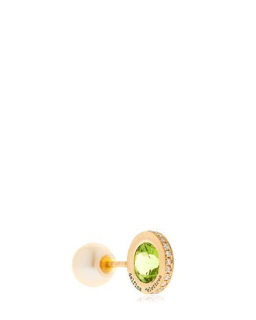 Delfina Delettrez | Metallic Seal Gold Peridot & Pearl Mono Earring | Lyst