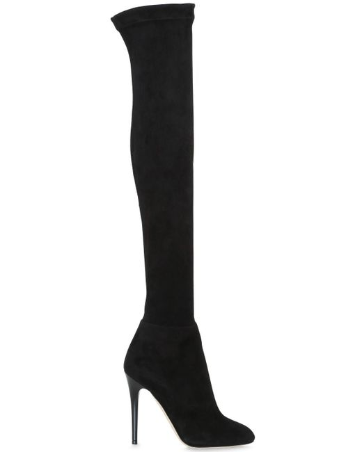 Jimmy Choo | Black 110mm Turner Stretch Suede Boots | Lyst