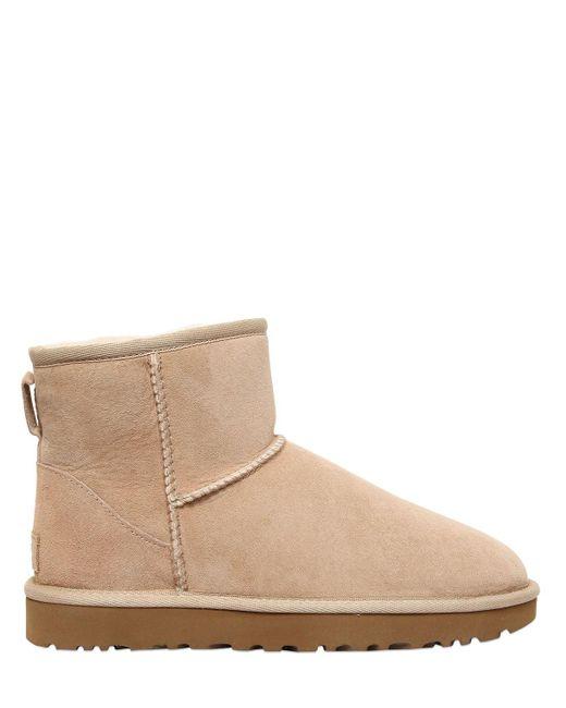 Ugg | Natural Classic Mini Ii Shearling Boots | Lyst