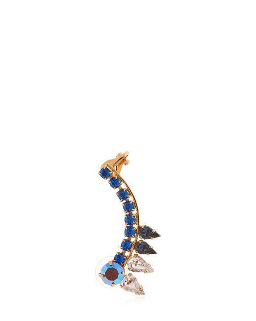 Halo | Blue Colored Earcuff W/ Swarovski Crystals | Lyst