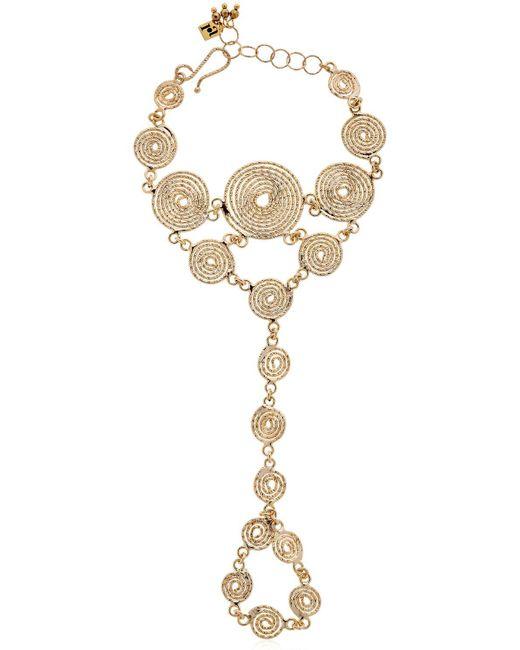 Rosantica | Metallic Soffio Spirals Hand Bracelet | Lyst