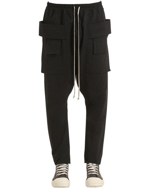 Rick Owens | Black Drkshdw Cotton Jersey Cargo Pants for Men | Lyst