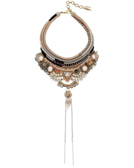 Deepa Gurnani | Metallic Bina Necklace | Lyst