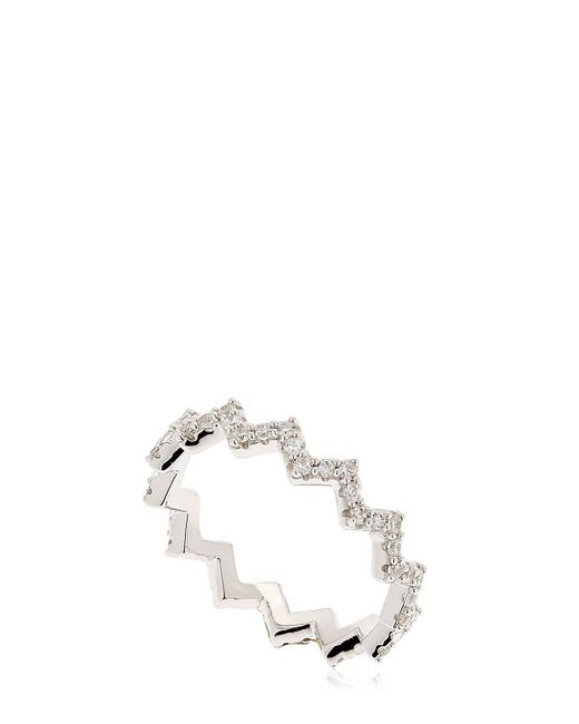 Apm Monaco | Metallic Up And Down Silver Ring | Lyst