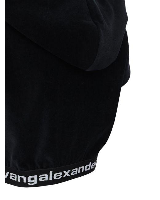 Alexander Wang ストレッチコーデュロイクロップトップ Black