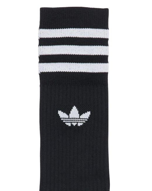 Adidas Originals コットンブレンドソックス 3足セット Black