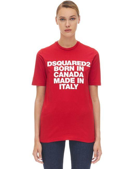 DSquared² コットンtシャツ Red