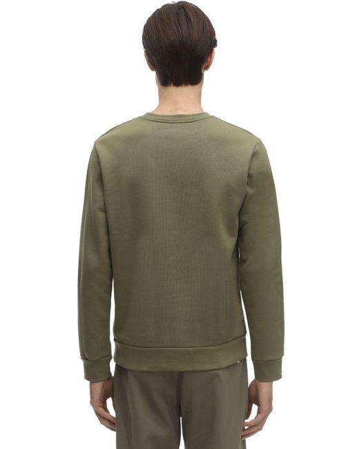 Свитшот Из Хлопка A.P.C. для него, цвет: Green