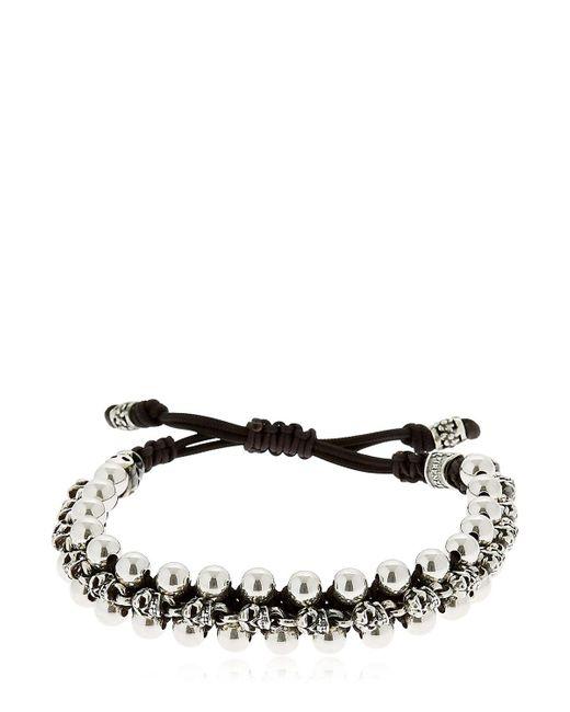 Cantini Mc Firenze | Metallic Skulls & Spheres Silver Bracelet | Lyst