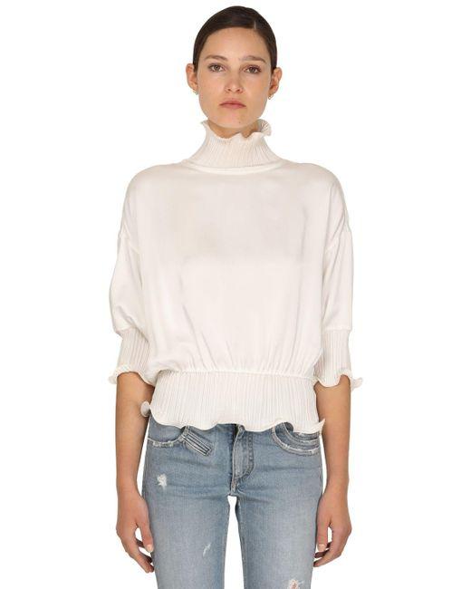 Топ Из Атласного Крепа Givenchy, цвет: White