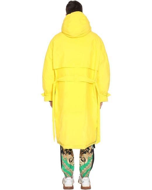 メンズ Versace リバーシブル ダウンコート Yellow