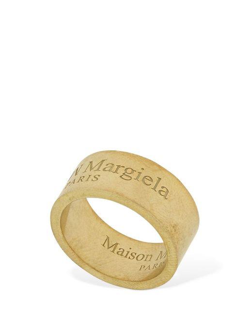 メンズ Maison Margiela Upside Down ロゴリング Metallic